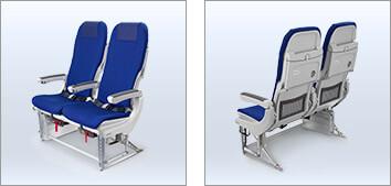 ANAの普通席のシート